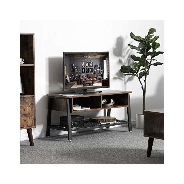 Vasagle Meuble Tv Vintage Table Basse Avec Etagere De Rangement