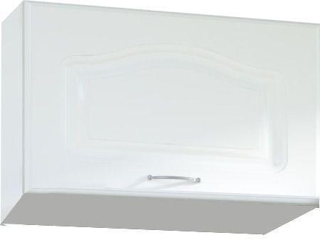 Comforium Meuble haut de cuisine style contemporain 60 cm pour hotte avec 1 porte horizontale coloris blanc
