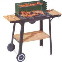 Tarrington House - Barbecue Chariot Sur Roues - 3 Servantes Bois - Récupérateur De Cendres