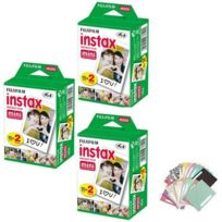 E-thinker - Fujifilm Instax Mini Blanc 60 Films + 60 autocollants