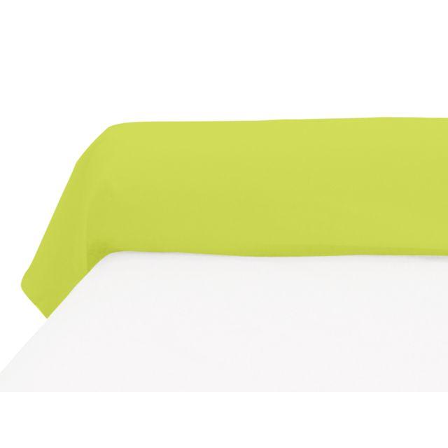 Soleil D'OCRE Taie de traversin 45x185 cm en coton 57 Fils vert