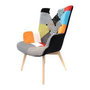 The Concept Factory Fauteuil Helsinki Patchwork Toutes Les - Fauteuil patchwork noir et blanc