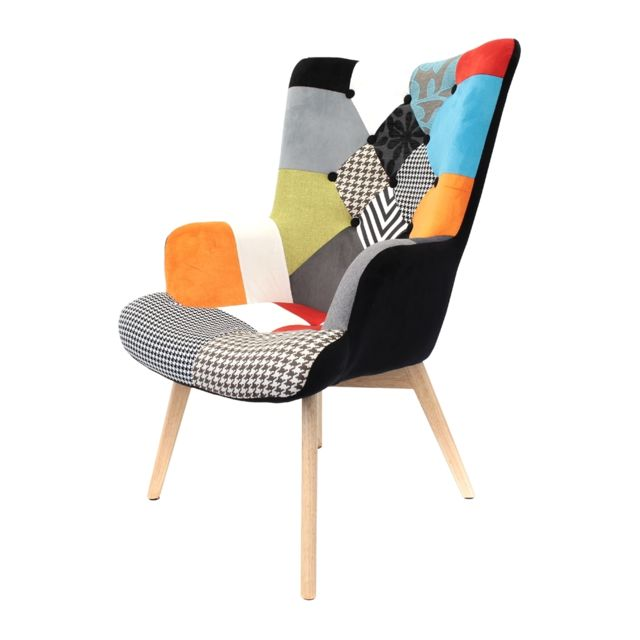 the concept factory fauteuil helsinki patchwork sebpeche31. Black Bedroom Furniture Sets. Home Design Ideas