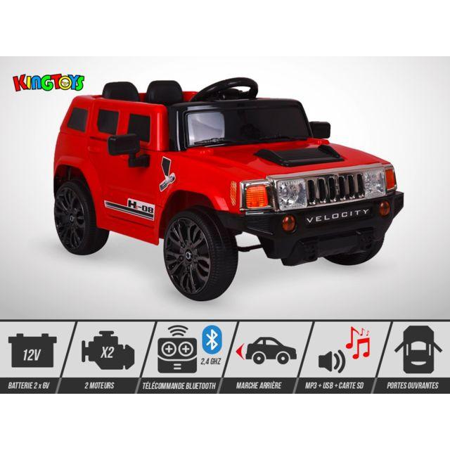 Kingtoys Voiture électrique enfant - 4X4 He-08 12V / 40W - Rouge