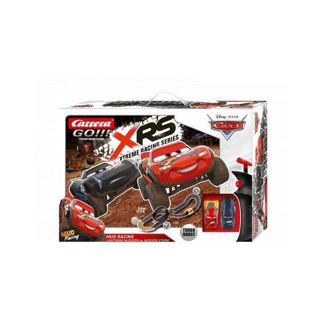 Carrera Circuit voitures Disney·Pixar Cars - Mud Racing 1/43 - Dès 6 ans - Go!!! 62478