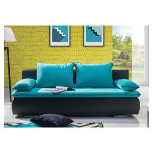 chloe design canap design convertible lycia bleu turquoise achat vente canap s pas chers. Black Bedroom Furniture Sets. Home Design Ideas
