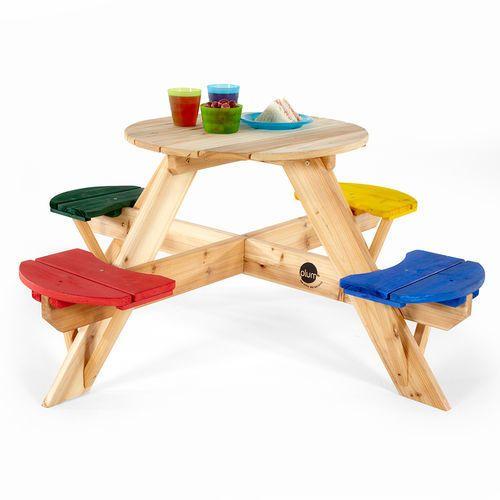 PLUM Table de pique-nique ronde en bois