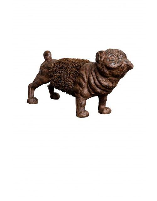 Decoshop Grattoir à chaussures chien bouledogue