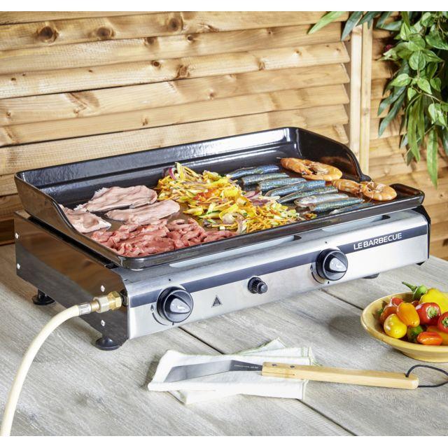lebarbecue plancha gaz 2 br leurs pg200 6 kw 706345 i ce pas cher achat vente plancha. Black Bedroom Furniture Sets. Home Design Ideas