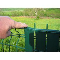 Jardideco - 100 clips pour lanière largeur 43 mm - Gris anthracite