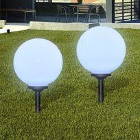 Vimeu-Outillage - Boule solaire extérieure 30cm 2 pièces
