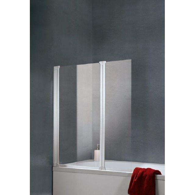 schulte pare baignoire paroi de baignoire avec 2 volets pivotants 103 5x130 cm verre. Black Bedroom Furniture Sets. Home Design Ideas