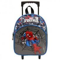 Spider-man - Spiderman sac à dos à roulettes trolley scolaire école enfant garçon cartable Disney