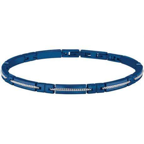 nouvelle collection c5d97 7a56c Bracelet Bleu Acier et Cable Homme Modèle Fregate - B043266