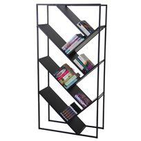 Mendler - Bibliothèque Cher, étagère indépendante, 160x80cm 4 tablettes