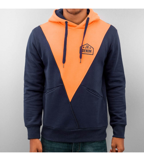 Just Rhyse Sweat Capuche Triangle Hoody Bleu Marine Orange