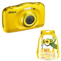 Nikon - compact étanche Coolpix W100 Jaune + Sac A Dos