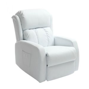 miliboo fauteuil relax lectrique massant blanc galler 4 relaxation pas cher achat vente. Black Bedroom Furniture Sets. Home Design Ideas