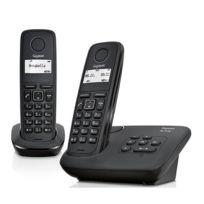 GIGASET - Téléphone fixe sans fil avec répondeur - AL117AS - Duo Noir