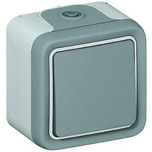 legrand bouton poussoir plexo 55 gris complet pas cher achat vente interrupteurs et. Black Bedroom Furniture Sets. Home Design Ideas