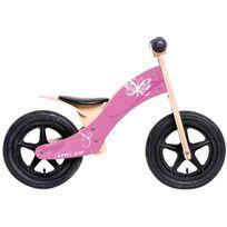 """Rebel Kidz - Vélo Enfant - Wood Air - Draisienne - 12"""" Schmetterling rose"""