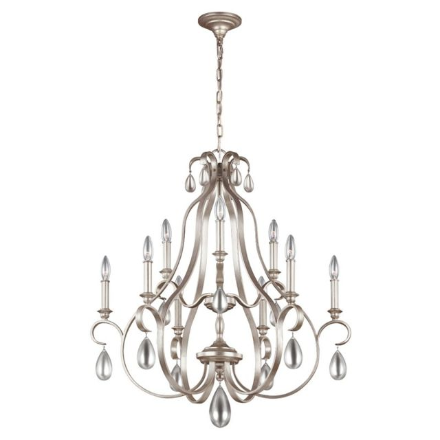 elstead lighting chandelier dewitt argent finition dor e 9 ampoules pas cher achat vente. Black Bedroom Furniture Sets. Home Design Ideas
