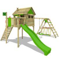 22dbed1cd2627 Wickey - Aire de jeux bois avec glissiere Fire Station - pas cher ...
