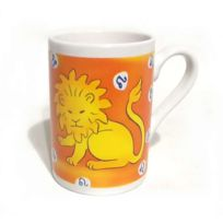 B.E.C. - Chope Mug porcelaine blanche Horoscope Lion
