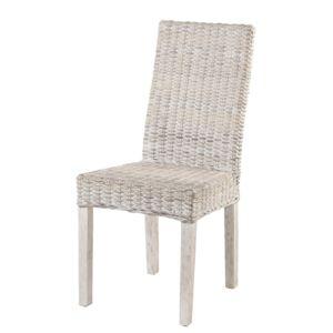 Rotin design chaise zicavo en rotin kubu blanc pas for Chaise en rotin kubu
