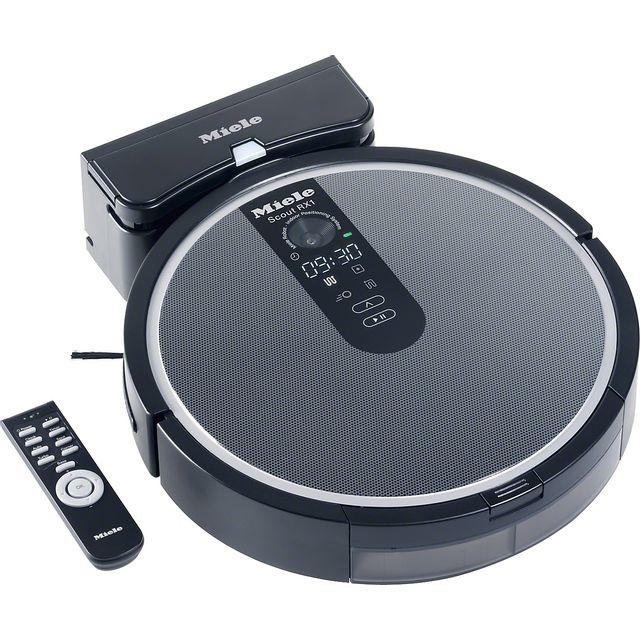 miele aspirateur robot noir scout rx 1 achat aspirateur sans sac silencieux. Black Bedroom Furniture Sets. Home Design Ideas