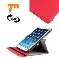Yonis - Housse universelle tablette 7 pouces support 360° étui Rouge