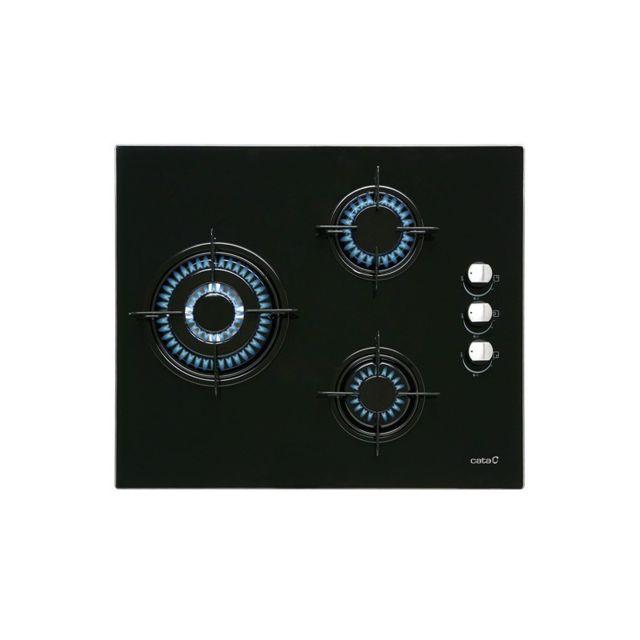Cata Plaque au gaz Cib6021BK 60 cm Noir 3 Cuisinière