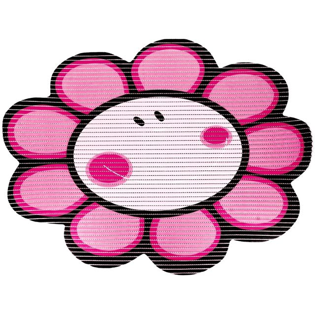 Promobo Tapis De Baignoire Cuisine Antiderapant Design Fleur Rose