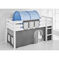 Lilokids - Accessoire Tunnel Bleu - pour Lit surélevé évolutif, Lit surélevé ludique et Lits superposés