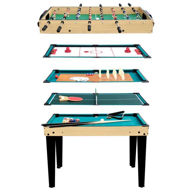 Rendez Vous Deco - Table multi-jeux 10 en 1 - pas cher Achat   Vente ... 851b62f13681