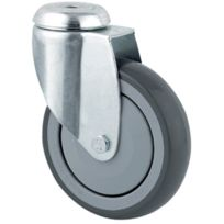 Tente - Roulette Pivotante S17 - Fixation A Oeil - Type:Pivotante - Ø roue mm:75 - Haut. mm:100 - Charge kg:75