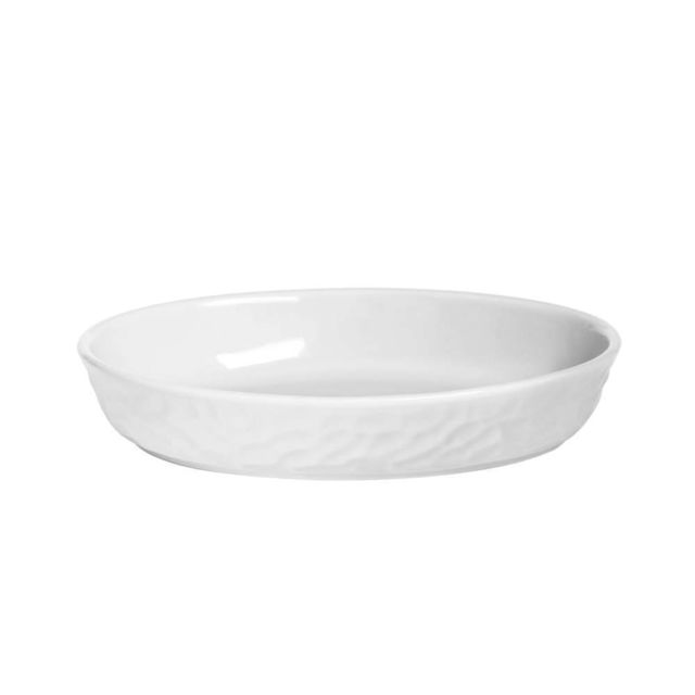 TABLE PASSION PLAT OVALE 24 X 16 GRES MARTELLO BLANC