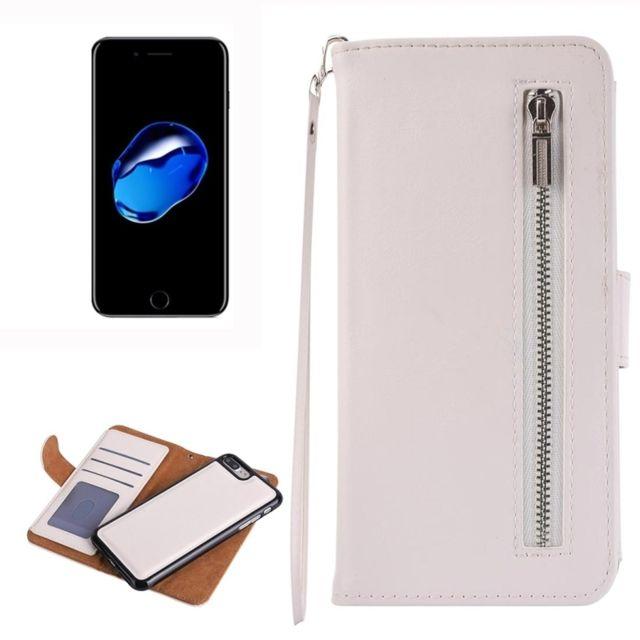 coque iphone 8 plus cuir blanc