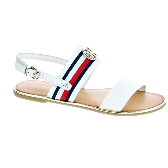 e61225520a0e Tommy hilfiger - Chaussures Femme Sandales modele Corporate Ribbon Flat  Sandal - pas cher Achat   Vente Sandales et tongs femme - RueDuCommerce
