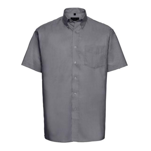 Fashion Cuir Chemisette Oxford repassage minimum Couleur - noir, Taille Homme - 6XL