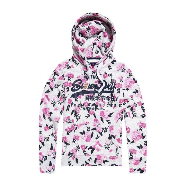 Superdry - Sweat Premium Goods Aop Entry Ice Marl - pas cher Achat   Vente  Sweat femme - RueDuCommerce b96e9ac084f4