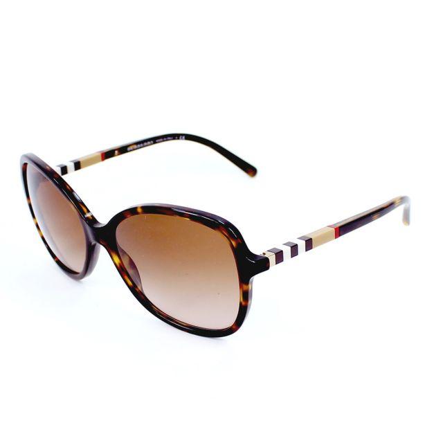 Burberry - Lunettes de solei Be-4197 3002 13 Femme Marron - pas cher ... 438c0bdbf1e0