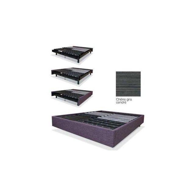 cache sommier sabbe kit 160x200 gris cendre pas cher achat vente cache sommiers rueducommerce. Black Bedroom Furniture Sets. Home Design Ideas