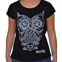 Hollifield - T Shirt Manches Courtes - Femme - Fs109 - Noir