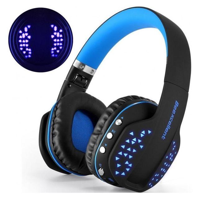 alpexe casque bluetooth sans fil ultra l ger avec led anti bruit csr signal stable compatible. Black Bedroom Furniture Sets. Home Design Ideas