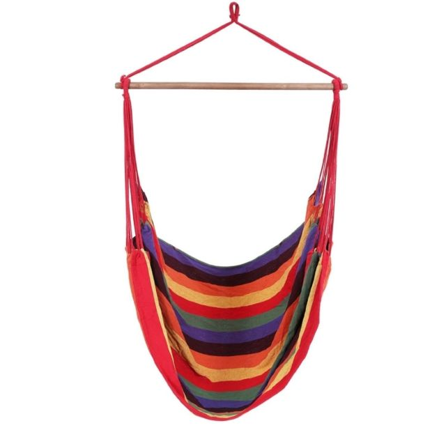 Helloshop26 - Hamac de jardin transat bain de soleil 200 kg multicolore 2212016