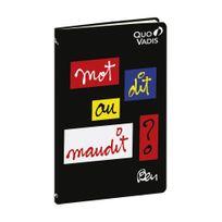 """Ben - Quo Vadis : - Carnet de Poche 14 x 9 cm Ligné - """" Mot dit ou maudit"""