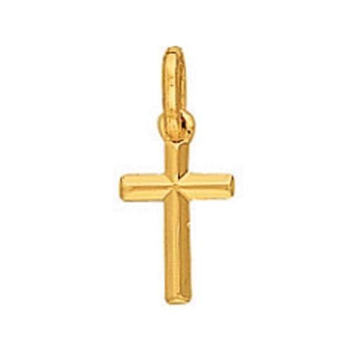 Sochicbijoux - So Chic Bijoux © Pendentif Croix Fil Biseauté Petit Modèle  Or Jaune 750  7651935fb6d