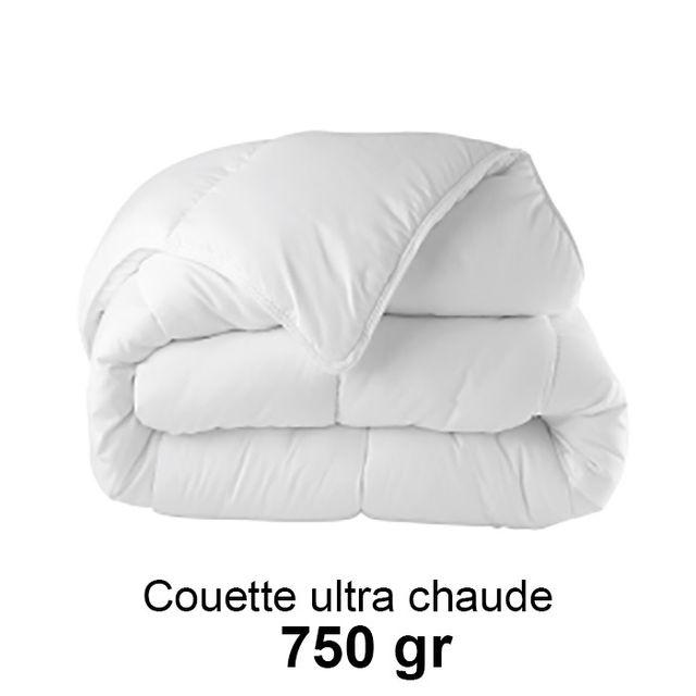 Couette 240x260cm ultra chaude 750gr/m²,