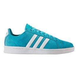 basket femme adidas neo blanche bleue